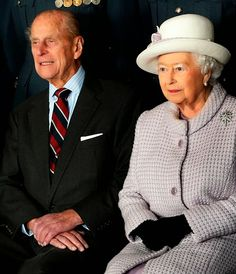 Prince Philip, Duke of Edinburgh and Queen Elizabeth II pose for a photo during a visit to RAF Lossiemouth on their 67th wedding anniversary on 20.11.2014 in Lossiemouth, Scotland.