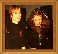 Tom Petty ❤ and Stevie ~ ღ☆❤☆ღ ~ besties, for decades; love his personalised top and the ribbon in Stevie's hair