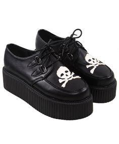 Lace Up Flatform Shoes