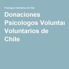 Donaciones Psicologos Voluntarios de Chile