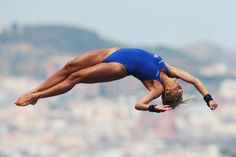 Tonia Couch of Great Britain competes in the Women's 10m Platform Diving semi…