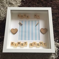 New baby boy/scan photo frame by MamasLittleGiftShop on Etsy