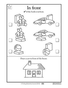 Spatial Concepts: Front & Behind Flash Cards -- Repinned by ...