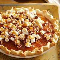 Sweet Potato Marshmallow Pie Recipe - A classic side dish becomes dessert!