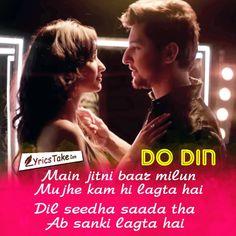 Check out Bollywood @ Iomoio Me Too Lyrics, Love Songs Lyrics, Music Love, Music Is Life, Bollywood Movie Songs, Crush Pics, Dear Crush, Beautiful Lyrics, Song Lyric Quotes