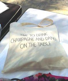 mint love social club: {bachelorette gift bags}