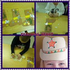 cowboy wild west craft.  Cowboy Hat and Boots.