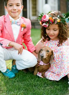 SPECIAL GUEST :: White Peacock Styled Events | www.whitepeacockevents.com |  Read More: http://www.stylemepretty.com/2014/08/29/inspiration-for-the-littlest-members-of-the-wedding-party/ #love #weddings #puppy
