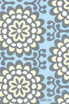Amy Butler Fabric Lotus line Wallflower Sky Blue 1 yard More Available on Etsy, $8.99