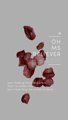 Oh Ms Believer Lockscreen, Twenty One Pilots Lyrics (Self Titled Aesthetics)   Graphic Design + Photography by KAESPO