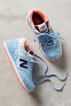 New Balance 574 Summer Waves Sneakers Blue Motif 8 Sneakers Zapatillas New Balance, Zapatillas Casual, Pretty Shoes, Cute Shoes, Me Too Shoes, New Balance Sneakers, New Balance Shoes, Sneakers Mode, Suede Sneakers
