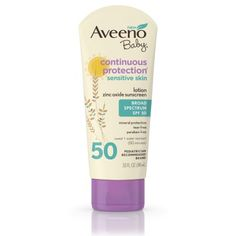 Aveeno Baby Continuous Protection Zinc Oxide Mineral Sunscreen Lotion for Sensitive Skin with Broad Spectrum SPF Tear-Free, Sweat- & Water-Resistant, Travel-Size, 3 fl. Aveeno Baby Sunscreen, Sport Sunscreen, Best Sunscreens, Broad Spectrum Sunscreen, Skin Cream, Sensitive Skin, Lotion, Baby Products, Tanning Products