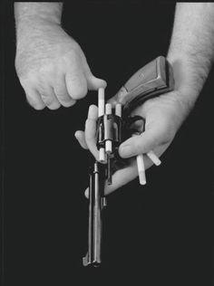 smoking gun   black & white   death sticks   cigarettes   smoke   bang   load   shoot   www.republicofyou.com.au