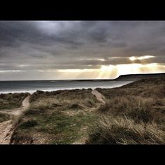 A rather atmospheric view of Horton, Gower, Wales.