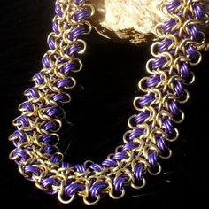 Indra - Purple and Gold Foldback Byzantine Choker. $50.00, via Etsy.