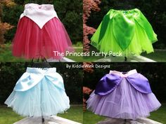 Cinderella, Tinkerbell, Rapunzel and sleeping beauty tutus Princess Party, Little Princess, Space Princess, Running Costumes, Baby Costumes, Princess Tutu Costumes, Disney Princess Tutu, Disney Tutu, Run Disney Costumes