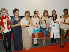 The 2011/12 winners in our annual MA Publishing awards: Eryl Norris, Philippa Sitters, Grace Healy, Melanie Kydd, Kristin Bergene, Laura Vile and Lisa Vanterpool.  (They're all in literary character fancy dress if you're wondering...)