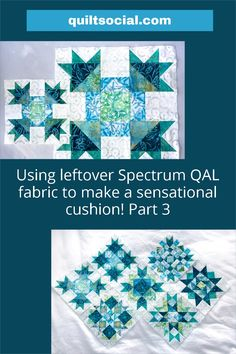 """Part 3 of Claire Haillot's instructions for making 6"""" Blocks 9, 6, 3, and 12, from the original Spectrum QAL quilt block patterns. Join her as she makes a sensational cushion featuring The Little Girl in the Blue Armchair collection by Anthology Fabrics 💙🌟 Free quilt pattern! #TheSewGoesOn #letsquiltalong #patchwork #anthologyfabrics #quiltingwithclaire #fabrics #handmade #quiltproject #freequiltingpatterns #quiltlife Free Motion Quilting, Quilting Tips, Quilting Projects, Quilting Designs, Quilt Block Patterns, Pattern Blocks, Quilt Blocks, Blue Armchair, Quilt Bedding"""