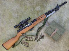 cerebralzero: Yugo SKS with Scope Sks Rifle, Assault Rifle, Long Rifle, Hunting Rifles, Cool Guns, Airsoft Guns, Guns And Ammo, Tactical Gear, Firearms