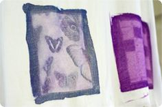 multicolored sun prints with photo fabric dye