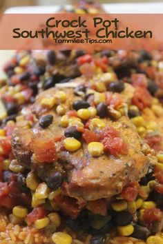 Crock Pot Southwest Chicken Dinner Recipe ....tried, yum! ...would be Really good for a party...taco/burrito bar