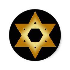GOLD STAR OF DAVID STICKERS