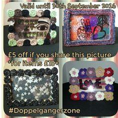 #Doppelgangerzone #Crochet #handmade #picture #frame #original #share #sharingIsCaring