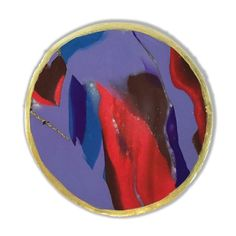 Purple and Red Marbled Clay Coaster