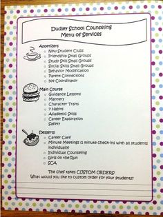 Introducing counseling services to the staff--cute idea! (Teacher Inspiration) (Counselor Lessons) (Home-School Connection) (Newsletter) (PSC PR)