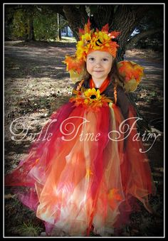 Autumn Fall Fairy tutu dress headpiece costume 12m 18m 2t 3t 4t 5 on Etsy, $58.95