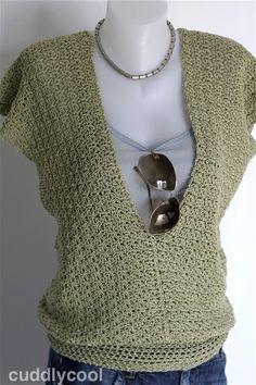 Op de valreep: Gehaakte zomertrui met korte mouw – Cuddlycool Crochet Coat, Crochet Fabric, Crochet Cardigan, Love Crochet, Crochet Clothes, Crochet Designs, Crochet Patterns, Top Crop Tejido En Crochet, Shrugs And Boleros