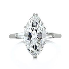 Mark Broumand - 4.62ct Marquise Cut Diamond Engagement Ring
