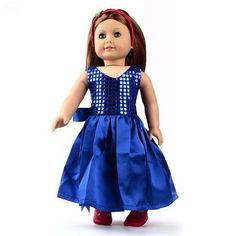 18  American Girl Doll Clothes,Doll Dress,Party Dress,1pcs,girl s Xmas Gift, F18