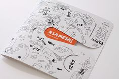 MARTÍN AZÚA | grafic | a-la-mesa-catalogue (English) | catalog about food and design that converts into a plate