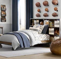 Grey duvet-Ford's room