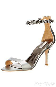 Badgley Mischka Leather Klark Dress Sandal