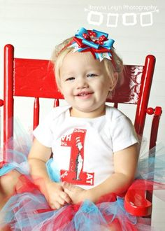 Dr Suess Birthday Outfit with Tutu by sarahsbabyemporium on Etsy, $38.00