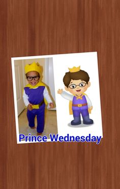 Daniel tiger, prince wednesday costume, Diy halloween costume, daniel tiger's neighborhood, toddler costume