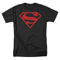 Superman Shield Red On Black Mens Shirt, http://www.amazon.com/dp/B006IJVV0U/ref=cm_sw_r_pi_awdm_I2pywb0599G6T
