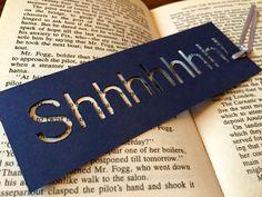 Bookmark handmade bookmark mini gift Shhh Ideas by CarolineArgo