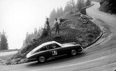Porsche 911 at the Rossfeld Hillclimb sometime in the 60s