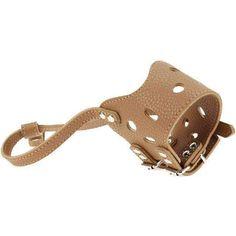 Adjustable Dog Muzzle Anti Bark Bite - PU Leather #DogMuzzle