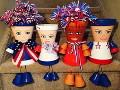 Clay Pot Projects, Clay Pot Crafts, Craft Projects, Diy Crafts, Craft Ideas, Flower Pot People, Clay Pot People, Clay Flower Pots, Flower Pot Crafts