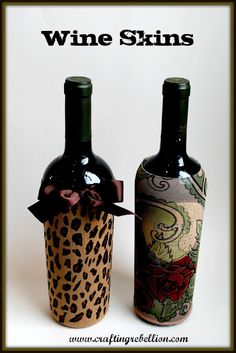 Crafting Rebellion: Halloween Leftovers= Wine Bottle Skins
