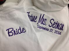 Personalized Embroidered Bride Tracksuit Hoodie and by captonrob, $59.99