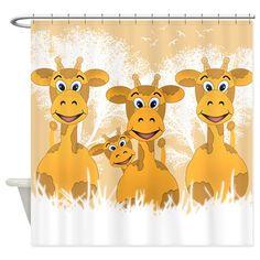 Giraffes Shower Curtain on CafePress.com