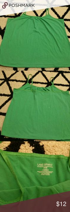 SALE💥B1G1HALFOFF Apple Green Lane Bryant Cami Gently used Cami size 26/28 Lane Bryant Tops Camisoles