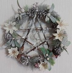 Pentacle, Grapevine Wreath, Grape Vines, Hanukkah, Christmas Wreaths, Holiday Decor, Home Decor, Decoration Home, Room Decor