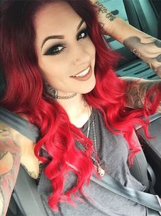 Love her hair makeup & ink ; idk what category to place this in!!