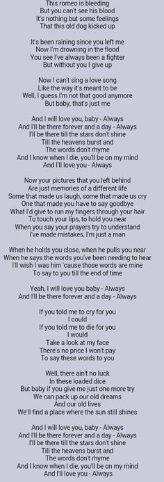 I will love you baby always lyrics